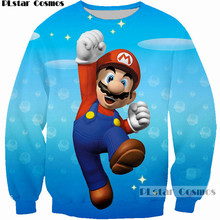 PLstar Cosmos Classic cartoon men/women sweatshirt Super Mario Playing 3D Print hoodies mujer/homme funny sweatshirts clothes