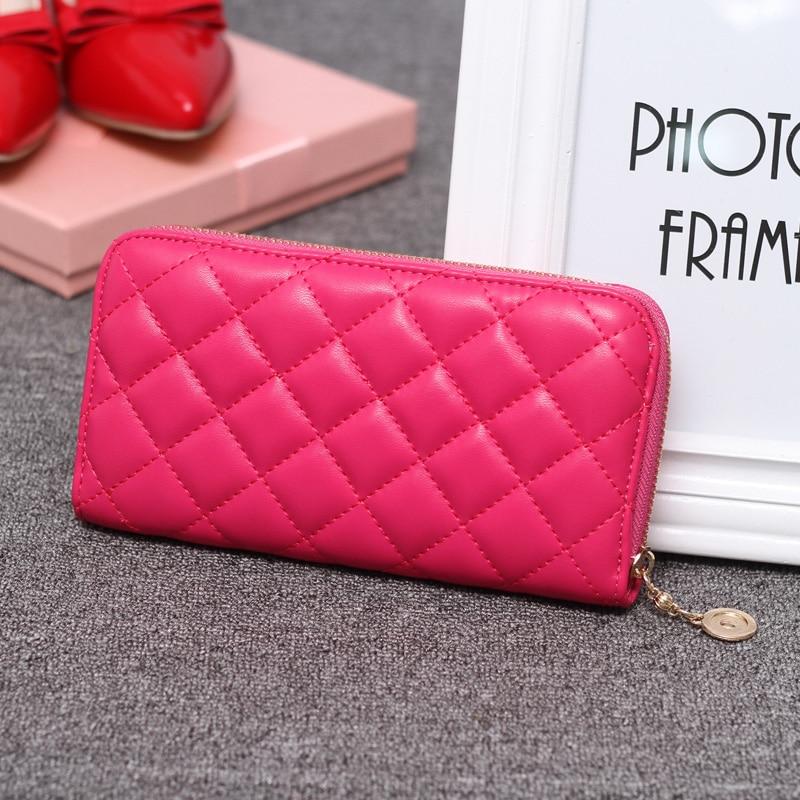2018 Heißer Verkauf Mode Dame Frauen Beliebte Geldbörse Lange Walletbags Pu Handtasche Karte Halter Handy Halter Geldbörse Stng Mei Rot