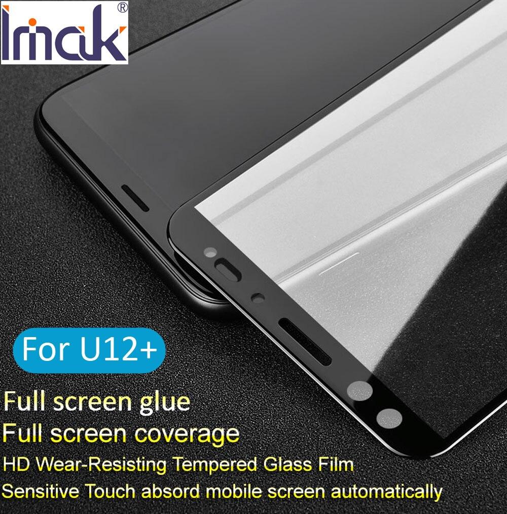 Imak Pro + Volle Bildschirm Kleber Abdeckung Gehärtetem Glas Für HTC U12 Plus Leben 2.5D Gebogene oleophobe U12 +