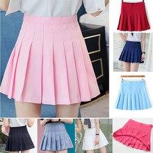 Girl Pleated Tennis Skirt High Waist Short Dress With Underpants Slim School Uniform Women Teen Cheerleader Badminton Skirts