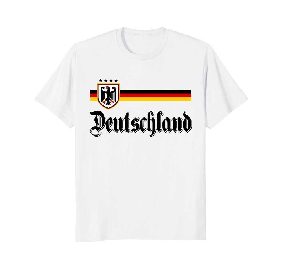 Новая летняя Горячая Распродажа футболка Германия Джерси-футболист Deutschland футболка футбол смешная футболка