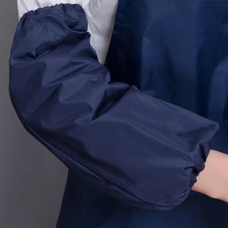 Взрослый Фартук в Корейском стиле, кухонный водонепроницаемый фартук, водонепроницаемый фартук для дома, кухни, ресторана, нагрудник, карманное кулинарное платье S5 - Цвет: Небесно-голубой
