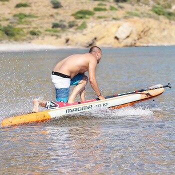 330*81*15 см надувная доска для сёрфинга stand up paddle board AQUA MARINA MAGMA педаль управления вспомогательная доска сумка поводок весло A01005