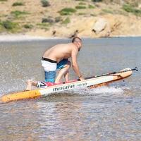 330*81*15cm inflatable surf board stand up paddle board AQUA MARINA MAGMA pedal control sup board bag leash paddle A01005