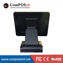 Supermarket LCD Screen Touch Monitor Pos PC Cashier Register Point Of Sale Black Color Pos System With Printer/Cash Drawer