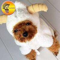 جديد وصول XS-XL الشتاء جرو الكلب الملابس vestidos الاليفة الكلاب زي القط الأغنام المعاطف بذلة كلب الملابس