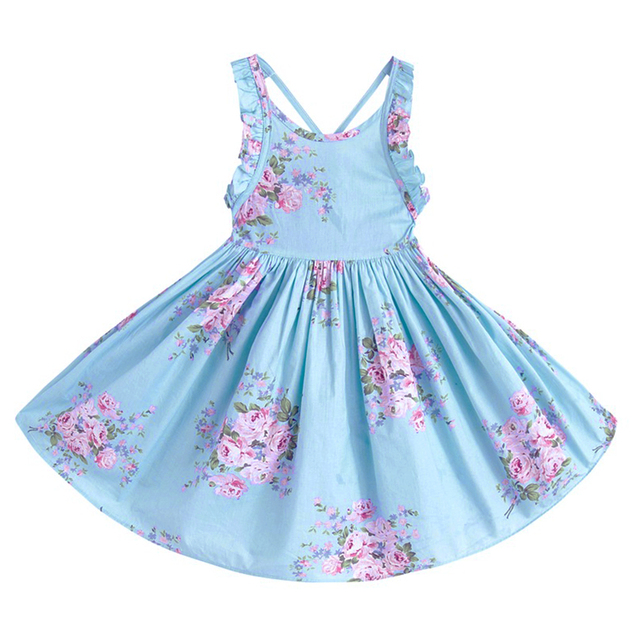 Petti Beach Fl Dresses Baby S Summer Sleeveless Flower 1 12years Kids
