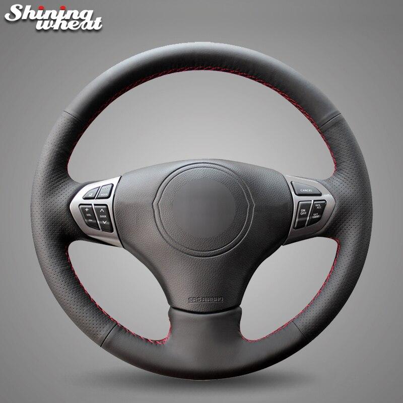 Housse de volant de voiture en cuir véritable noir BANNIS pour Suzuki Grand Vitara 2007-2013