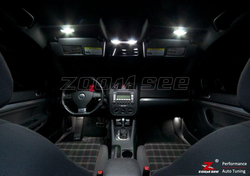 16 шт. X canbus для GTI Rabbit VW Golf 5 MK5 MKV Карта Купол светодиодный внутренний свет+ парковка город лампы kit(2006-2009