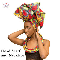 Handmade Multi color Headwear Headband Ankara Head Decorations Wrap Scarf Necklace African Hair Accessories Gele Ipele WYB20