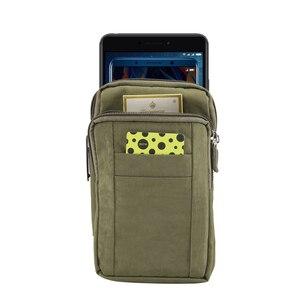 """Image 2 - Adam spor kemer klipsi bel paketi rahat eğimli omuz çantası telefon kapak cüzdan kılıf Iphone Samsung için Huawei için hepsi 7"""""""