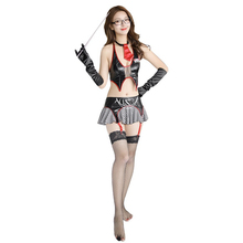 Sexy Lingerie Womens Uniforms Role-playing Pleated Skirt Hot Temperament Teacher Suit 241