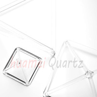 3 4 5 6 7 5pcs Clear Crystal Singing Pyramid For Sound Healing Music Therapy Chakras