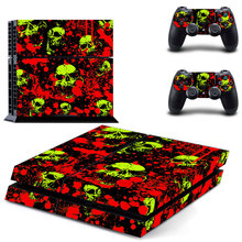blood hands skull warning Decal PS4 Skin Sticker For Sony Playstation 4 Console +2Pcs Controllers 7 pattern