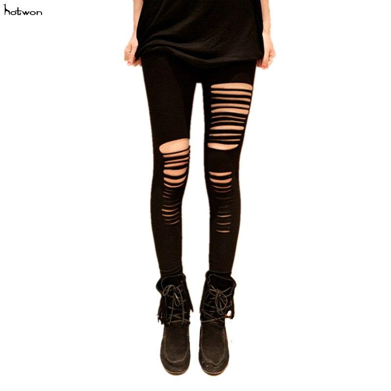 Slashed Zombie Horror Shredded Banned Punk Gothic Leggings Stretchhose