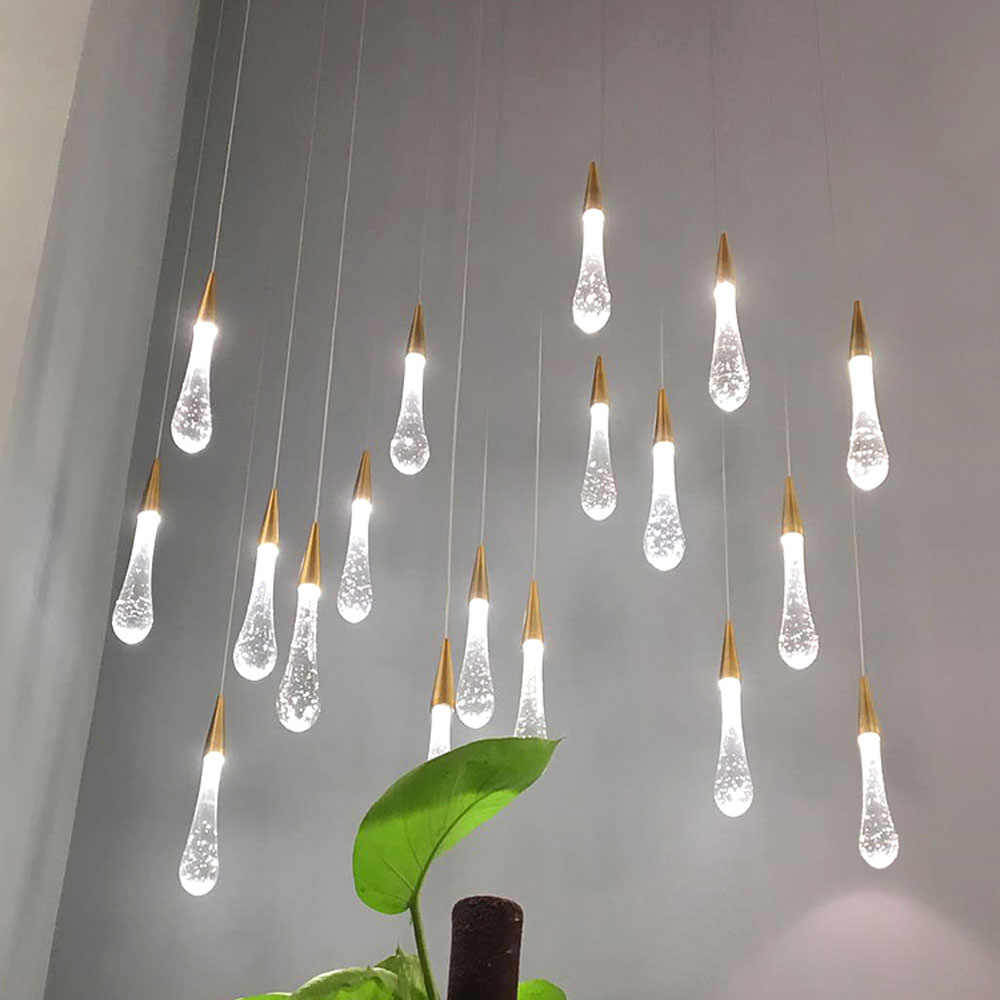 빌라 계단 펜던트 조명 긴 케이블 매달려 램프 레스토랑 바에 대한 간단한 펜던트 램프 실내 장식 조명