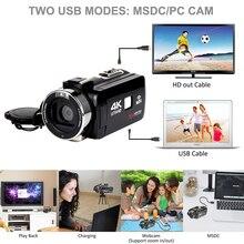 Digital HD Video Camera 4K WiFi Ultra 1080P 48MP 16X ZOOM Ca
