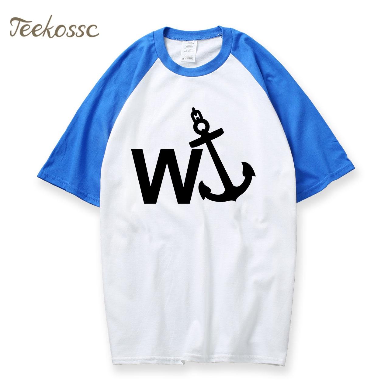 W'Anker Funny Anchor Rude Comedy Retro Gift Mens Cotton Short Sleeve T-Shirt 2018 New Summer Raglan Tshirt O Neck Men Shirts Top