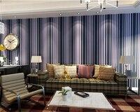 Beibehang dọc Đơn Giản Đơn Giản sọc 3d hình nền phong cách Địa Trung Hải boy phòng ngủ phòng khách backdrop sản phẩm không dệt papel de parede
