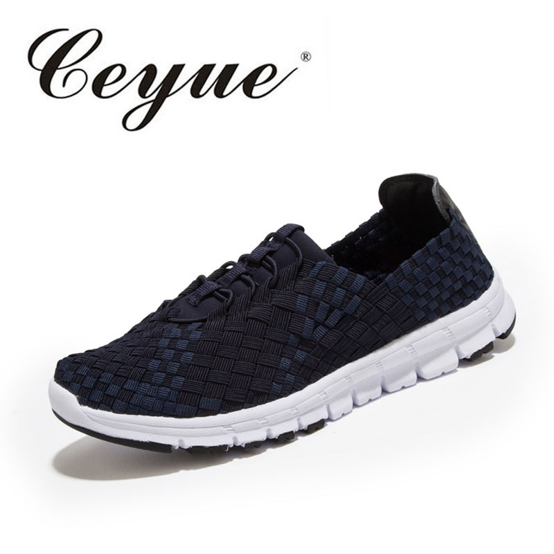 Ceyue New Fashion 2017 Womens Weave Shoes Checkered Breathable Casual Woven Shoes Loafers Slip-On Flat Shoes Sapato Feminino hot 2017 new fashion womens weave shoes spring summer mixed color breathable casual shoes flats slip on loafers tenis feminino