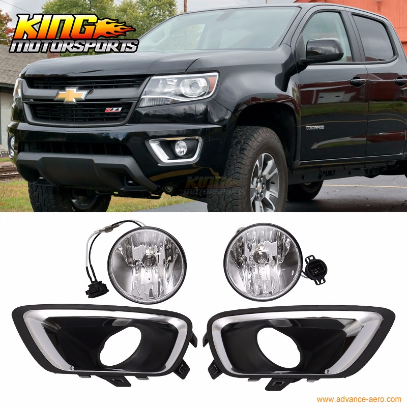 For 2017 2016 Chevy Colorado Front Fog Lamp Light Pair Kit Lh Rh Clear Lens