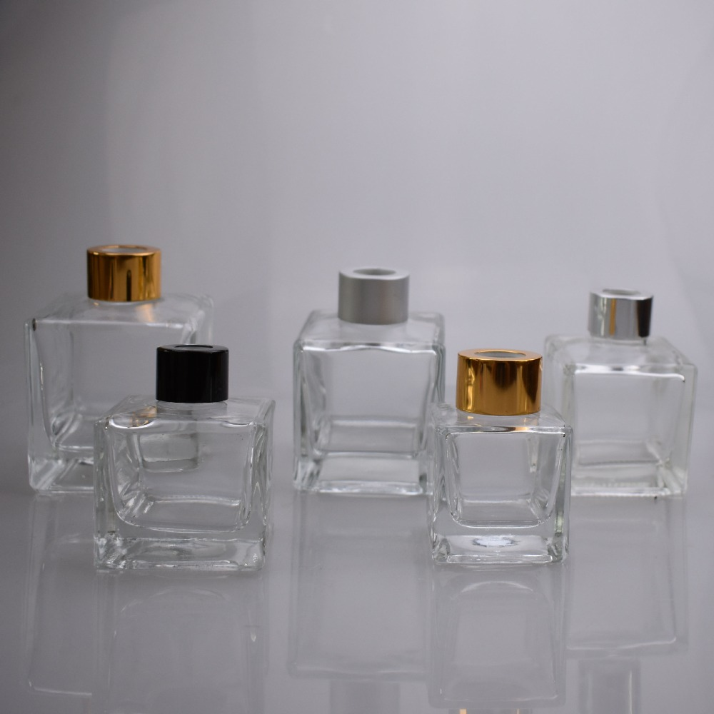 50ML Square Aromatherapy Bottle Car Fragrance Glass Perfume Bottle Volatile Bottle 30PCS LOT