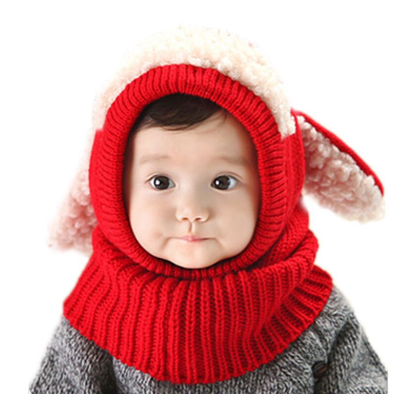 new born photography 2017 winter solid kniited beanie baby cute Winter puppies cape wool baby shawl collar 5 colors baby hats