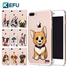 Фотография For funda iPhone 5S case 5 5S 6 6S 7 Plus Cute Dog soft silicone TPU for coque iPhone 6S case new arrival for capa iPhone 7 case