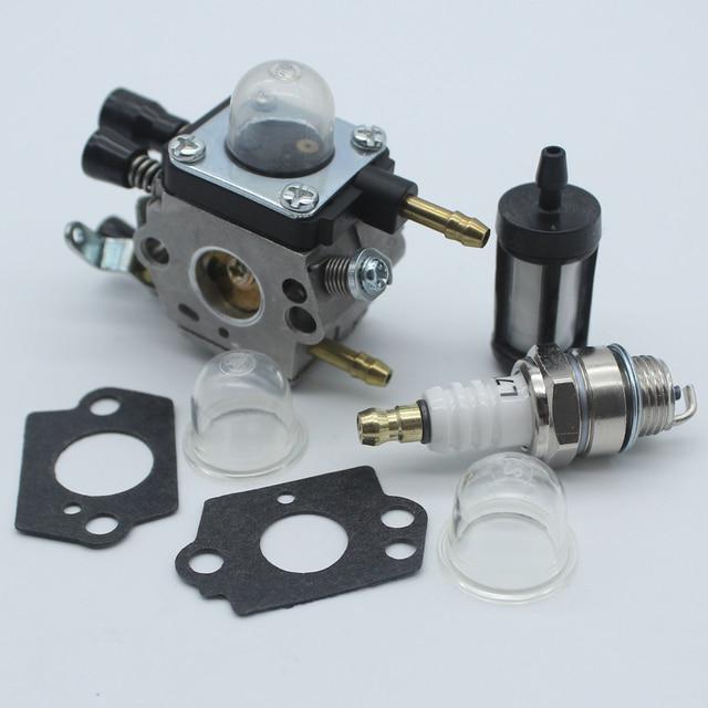US Carburetor Primer Bulb Kit For Stihl BG45 BG46 BG55 BG65 BG85 SH55 SH85 Blower Zama C1Q S68 C1Q S64 4229 120 0606 W Spark Plug In Leaf