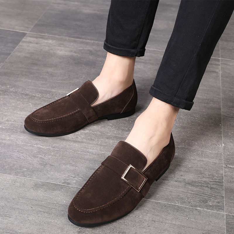 2018 Fashion Men   suede     Leather   Shoes Mlae Dress wedding Classic Business Party Office Wedding Loafers Men's Flats Shoes