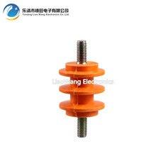 цена на 10 pcs Screw insulator insulation column yellow insulated column low voltage insulator 40*M8/60*M10