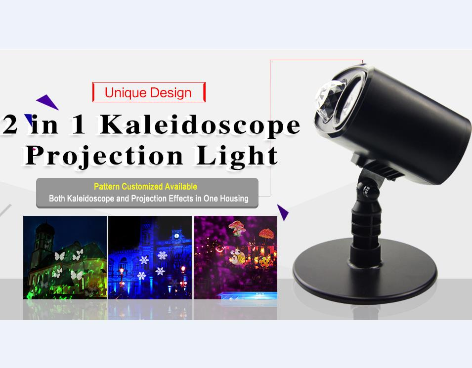 2017 Ul Motion Led 2 In 1 Color Kaleidoscope Projection Stage Water