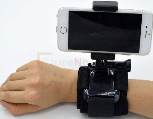 Открытый Мобильный Телефон Спорт Клип Крепление с Gopro Подключения Штатив Велосипед Скутер Автомобильный Держатель Мобильного Телефона Ада…