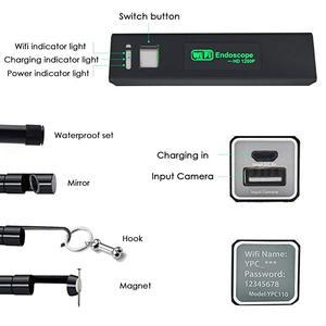 Image 4 - Câmera endoscópica semi rígida, wi fi mini hd 1200p ip68 semi rígida inspeção de vídeo para android/ios