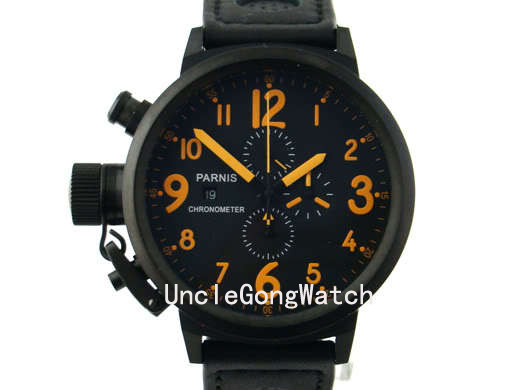 popular 50mm watch buy cheap 50mm watch lots from 50mm watch 50mm parnis orange numbers lefty crown big face full chronograph mens watch pq5003pbo
