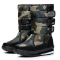 Good quality 2016 military desert boots men fashion camouflage hook & loop mid-calf botas waterproof snow boots big size 39-47