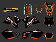 0263 NEW TEAM GRAPHICS WITH MATCHING BACKGROUNDS FIT FOR KTM EXC 125 200 250 300 380 400 1998 1999 2000 FULL SIZE MODELS