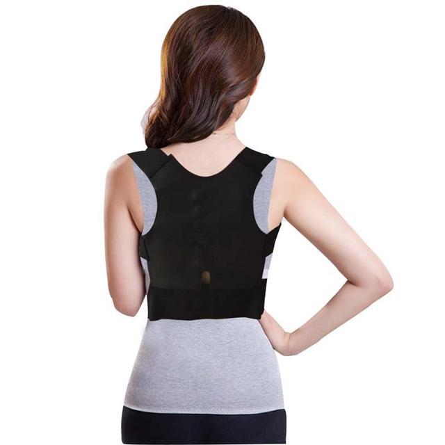 Black Back support for women orthopedic 5c64f4fde99c1