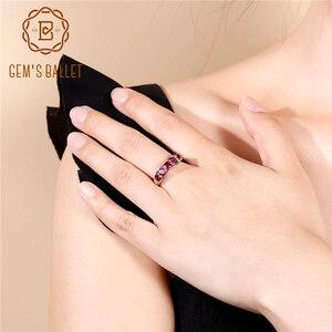 Image 1 - GEMS BALLET Solid 1.84Ct Natural Rhodolite Garnet Ring 925 Sterling Sliver Wedding Band Simple Rings For Women Fine Jewelry