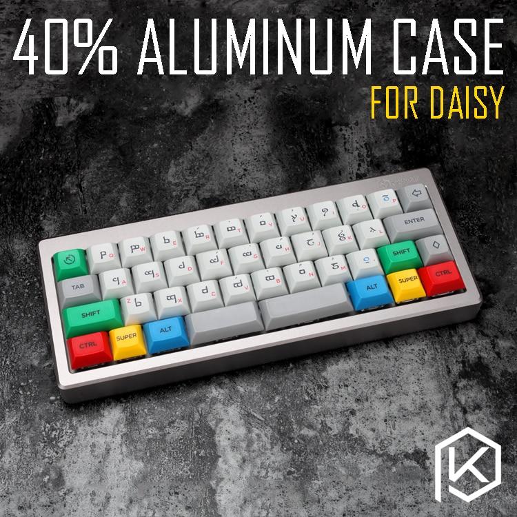 Anodized Aluminium case for daisy 40 custom keyboard acrylic panels acrylic diffuser can support daisy Rotary