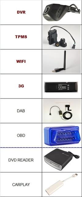 OTOJETA accessories ( OBD2 +3G dongle+ DAB receiver +wifi dongle +DVD reader +CARPLAY+USB DVR CAMERA + TPMS) ,no sale alone