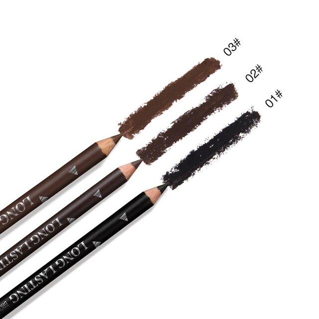 2019 New Hot Sale 12pcs Waterproof Eye Brow Pencil Black Brown Eyebrow Pen Long Lasting Makeup Drop Shipping 4