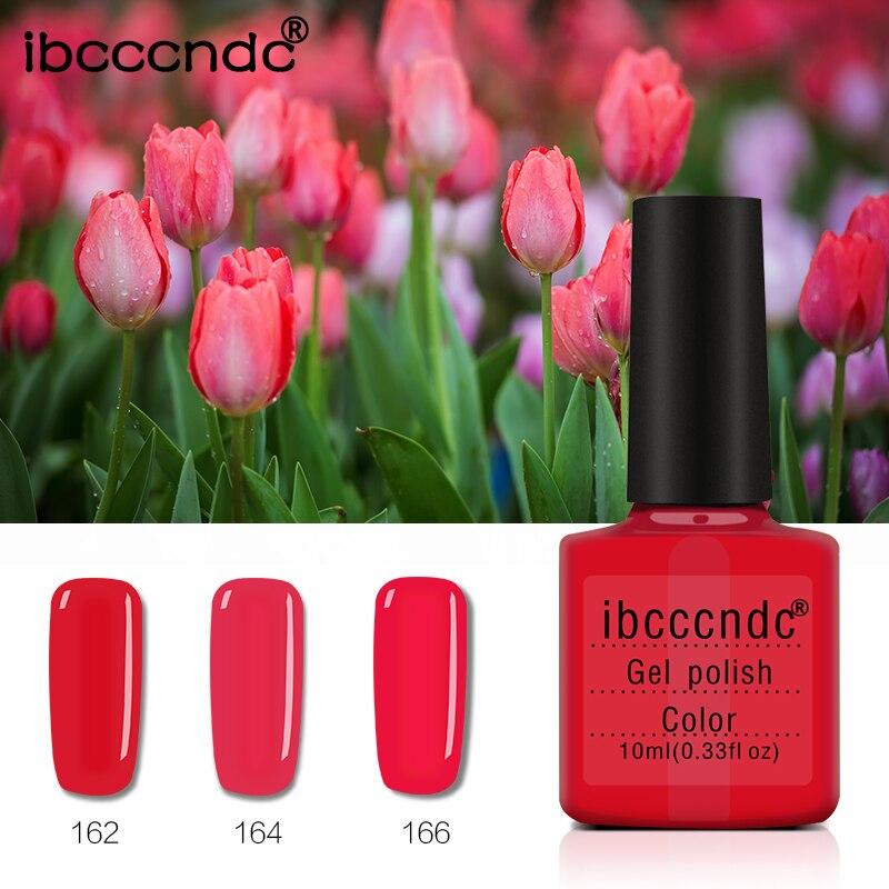 1X Gel laca pura colores rojo Serie UV Gel polaco manicura DIY Nail ...