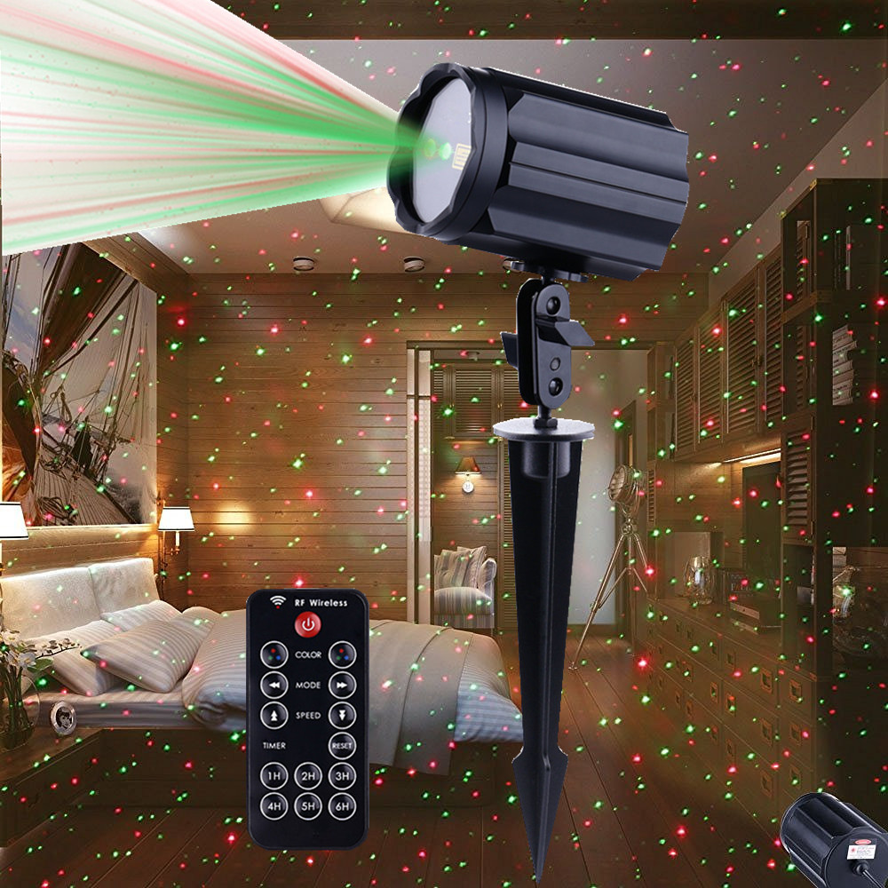 outdoor christmas laser light projectors waterproof star red and green led spotlights for garden house landscape - Laser Projector Christmas Lights
