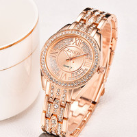 XINEW Luxury Stainless Steel Watches Women Fashion Crystal Bracelet Quartz Watch Women S Diamond Clock Ladies