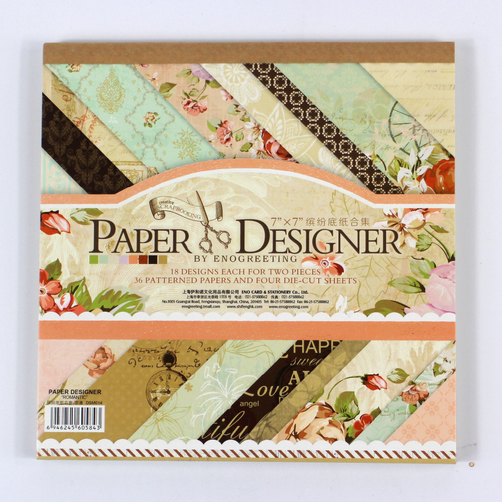Scrapbook paper cheap - Enogreeting 7 Beautiful Diy Vintage Floral Style Scrapbooking Paper Pack Of 40sheets Handmade Craft