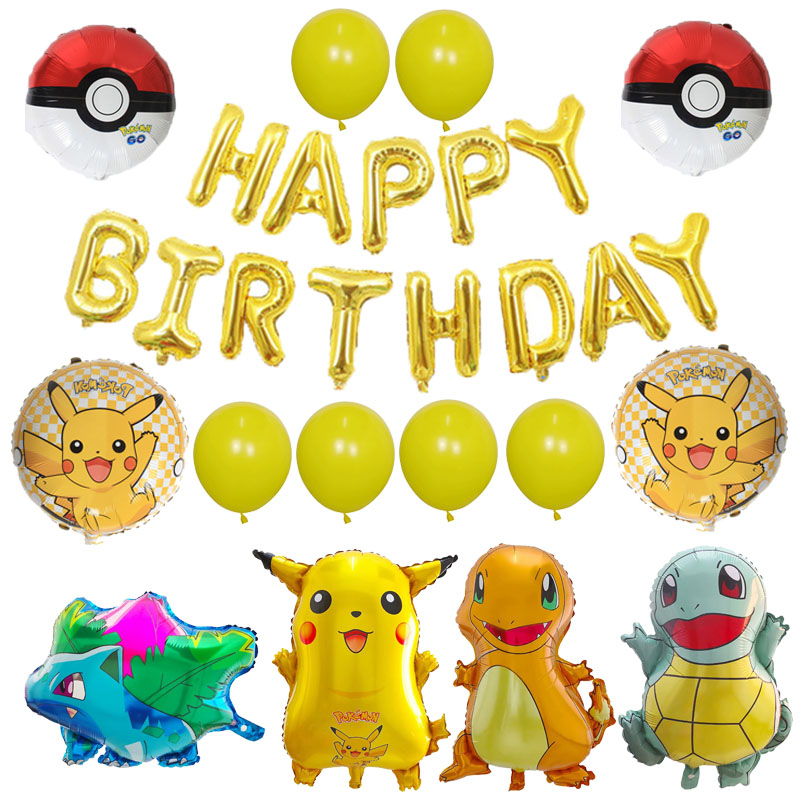 1set Cartoon Pikachu Pokemon Go Helium Foil Balloons Inflatable Children birthday party decoration kids toys Childrens Day gift1set Cartoon Pikachu Pokemon Go Helium Foil Balloons Inflatable Children birthday party decoration kids toys Childrens Day gift