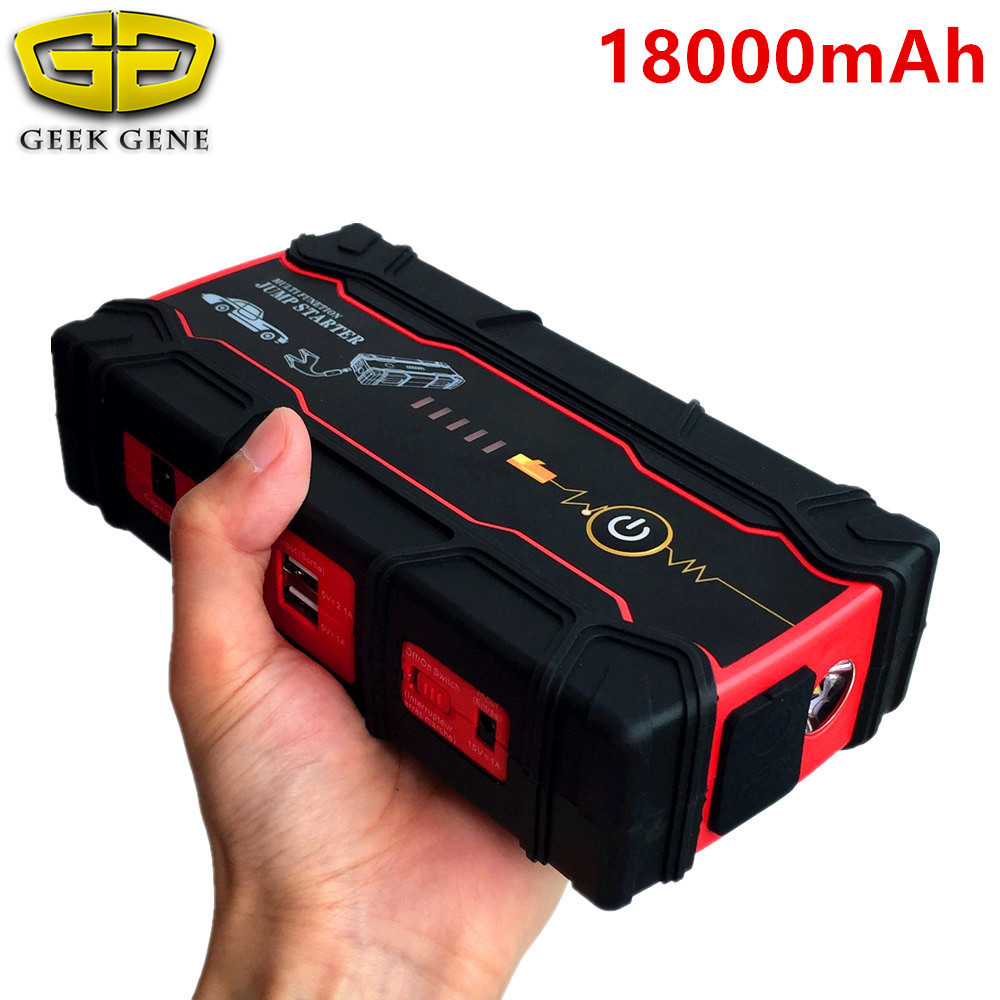 High Capacity 18000mAh Car Jump Starter Portable Starting Device Power Bank Biggest Car Charger For Car Battery Booster Buster creative magic bean colorful hand warmer portable power bank for cellphone 5000ma capacity mobile charger birthday gift