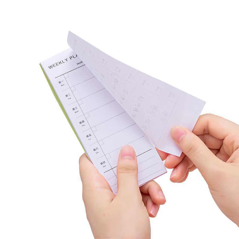 День Неделя Месяц подробный список планировщик memo pad 30 листов, чтобы сделать список N раз Sticky Note Офис школа план питания