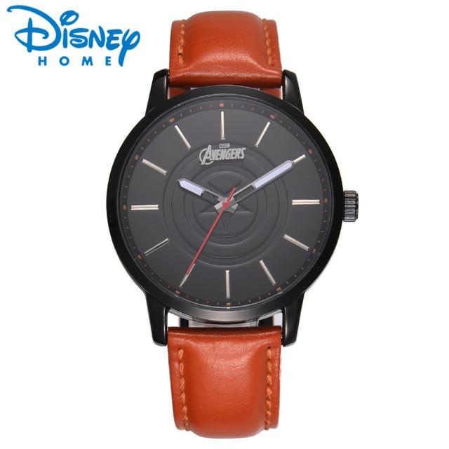 4d7ca8758ae Disney Relógios Originais Homens Vingadores Da Marvel de Luxo Famosa Marca  de Relógio de Quartzo de